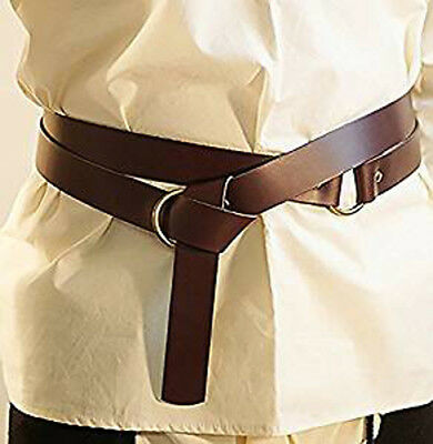 "Re-enactment/Medieval/Larp/Sca LEATHER WRAP AROUND KNIGHTS BELT 1.5""wide"