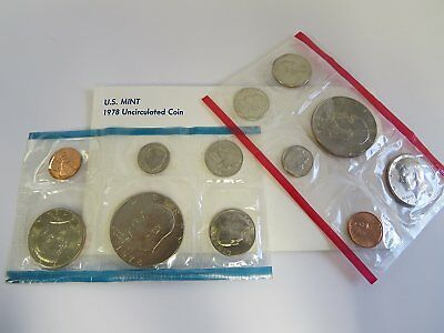 1978 U.S mint uncirculated coin set in Original Government Packaging