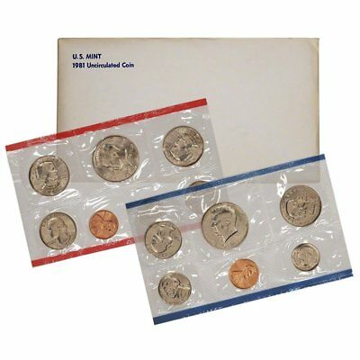 1981 United States Mint Uncirculated Coin Set in Original Government Packaging