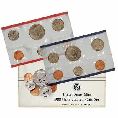 1988 United States Mint Uncirculated Coin Set in Original Government Packaging