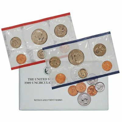 1989 United States Mint Uncirculated Coin Set in Original Government Packaging