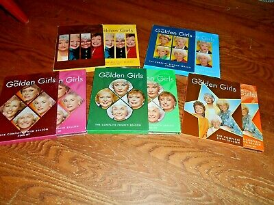 Lot of [5] THE GOLDEN GIRLS: Complete Seasons 1 thru 5 DVD ] OOP + I Ship Faster