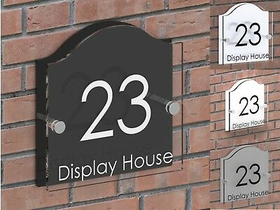 Displaypro Clear Acrylic House Number Plaque Door Sign Name Road Plate Plaques