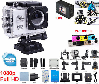 Videocamera HD sport Action camera pro.Subacquea diving sub immersione acqua ip