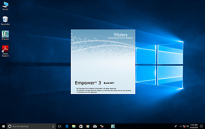 Waters Empower 3 FR2, SR2  loaded on Dell i7 Windows 10 pro Computer