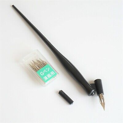 SpeedBall 9455 Dual Oblique/Straight Pen Holder + Zebra G Nibs Calligraphy UK!