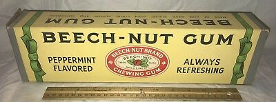Antique Beech Nut Chewing Gum Country Store Candy Display Shipping Box Sign Old