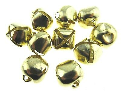** 10 x 18mm Gold Jingle Bells