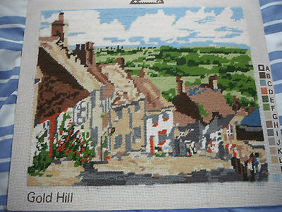 Completed Tapestry On Board Of Gold Hill Shaftesbury, Dorset. Hovis Ad Fame.