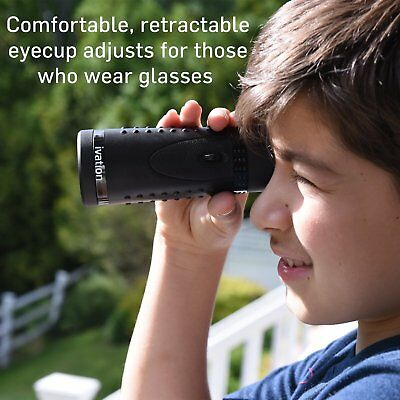 Ivation HD Wide View Monocular With Multi-Coated Optical Full Glass Lens & Super