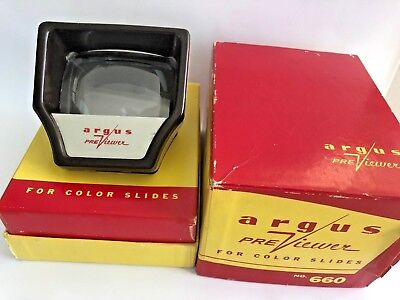 Vintage Argus Pre-Viewer 35mm Slide View Works (with original instructions)