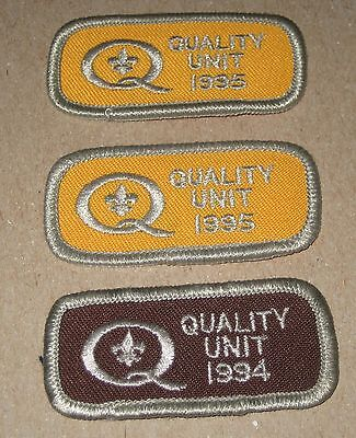 QUALITY UNIT 1995 94 Lot (3) Sew On or Iron Patch Boy Scouts of America BSA