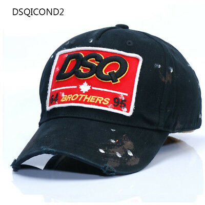 a4d8005cdc3595 New Dsquared Distressed Brothers Baseball Cap Dsquared2 unisex DSQ2 Hats