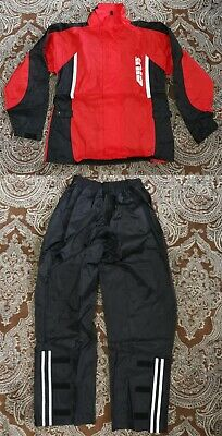 Givi Rain Suit Jacket & Pants Red / Black TA19R
