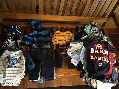 Newborn Infant Boys Clothing Lot 44 Pieces Worn From One Child