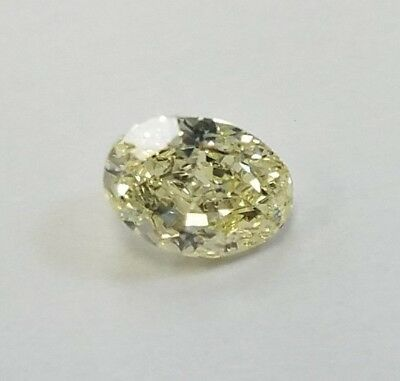 1.07ct OVAL GIA Certified Fancy Yellow Natural color SI1