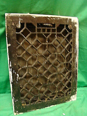 ANTIQUE HEAVY DUTY CAST IRON HEATING GRATE VENT REGISTER ORNATE DESIGN 14 X 11 u