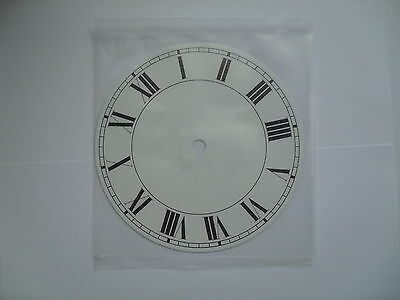 White Clock Face Or Dial 130Mm Diameter With Roman Numerals In Black Cd5W