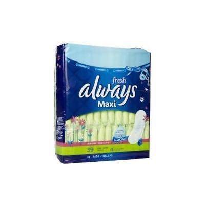 Always Maxi Pads Long Super Without Wings Scented-39 Ct 39 CT