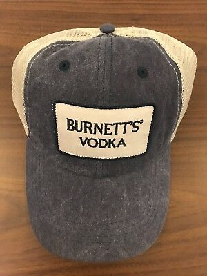 NEW Official Burnett's Vodka Mesh/Trucker Hat Grey Snapback