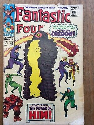 FANTASTIC FOUR # 67 - WHEN OPENS THE COCOON! -  1st APPEARANCE Adam Warlock
