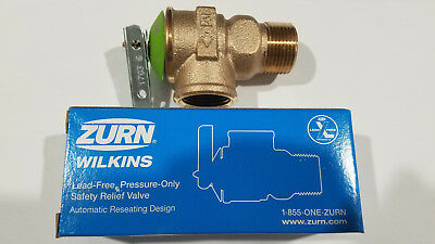 "NEW! Zurn Wilkins 3/4"" NPT 30 PSI Pressure Only Safety Relief Valve P1000AXL-30C"