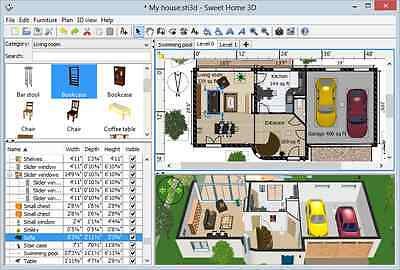Sweet Home 3D (Home Interior Design CAD Software Suite) USB for Windows and Mac