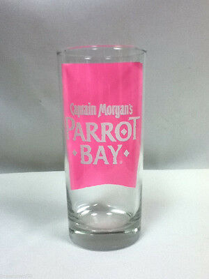 Captain Morgan Parrot Bay rum bar glass drinking glasses 1 cocktail drink JQ6