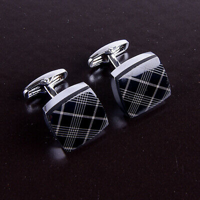 LV style Business Men's Cuff Links Sexy Luxury Fashion Silver Jewelry Cufflinks