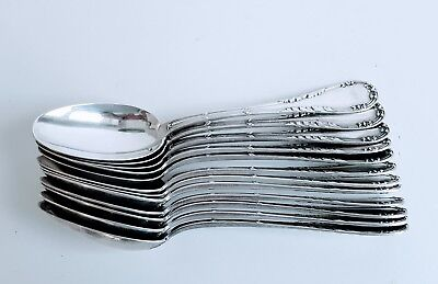 12 Oval Soup Spoons 950 Sterling French Andre Roberge Paris Superb Condition