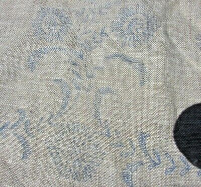 Art Nouveau Daisies Loops Scrolls Sprays Linen Stamped Embroidery Scarf Runner