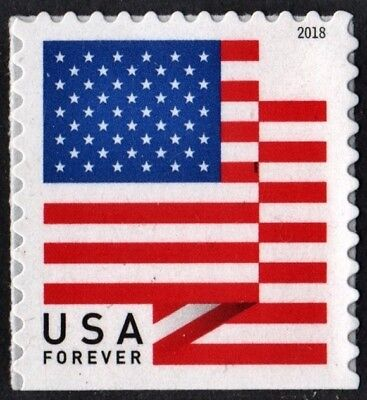 2018 50c American Flag, Red, White & Blue, Booklet Single Scott 5262 Mint VF NH
