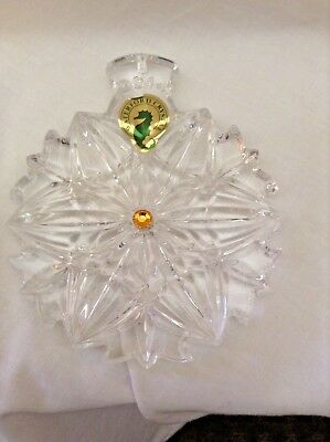 Waterford SNOWFLAKE WISHES Peace 2014 Christmas Ornament New RRP$99.95