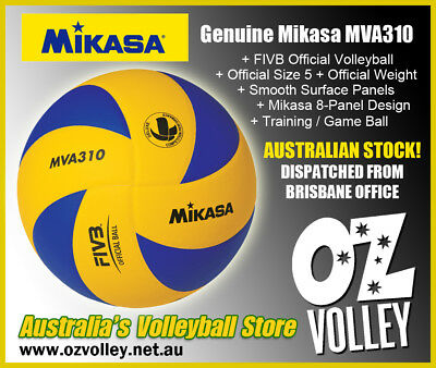 Genuine Mikasa MVA310 Indoor Training Volleyball - FIVB Official  - OzVolley
