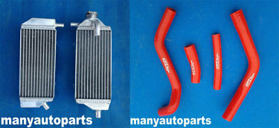 ALUMINUM RADIATOR FOR YAMAHA YAMAHA YZ250F YZF250 2014 2015 14 15 and red hose