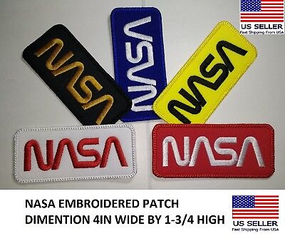 **LOVE IT OR ITS FREE** - NASA Iron on/sew-on Embroidered Patch!! US SELLER!!