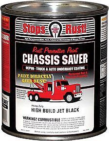 Chassis Saver Paint, Stops and Prevents Rust, Gloss Black, 1 Quart Can Magnet Pa