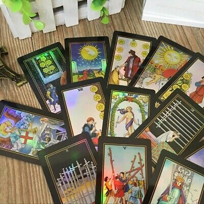 Tarot Cards Deck Vintage Colorful Box Future Telling Game 78 Cards Waite