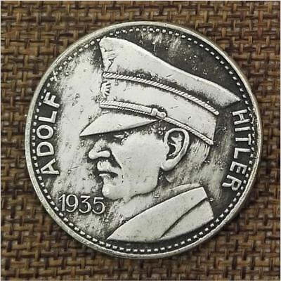 1935 Germany Adolf Hitler WW2 WWII Third Reich Nazi Exonumia Coin Collection