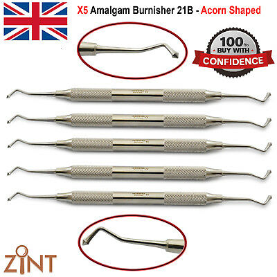 Set Of 5 Ball Burnisher 21B Composite Plastic Placement Posterior Restorations