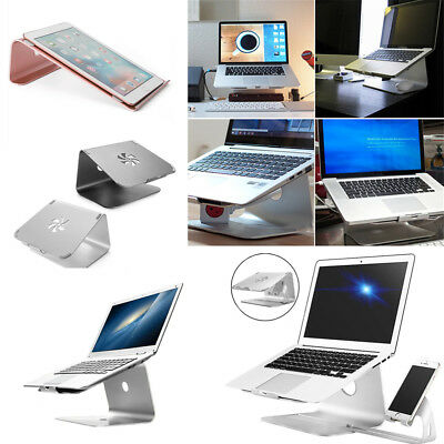 AU Aluminum Laptop Stand Tablet Holder Stand Mount Dock Pad for MacBook Pro Air