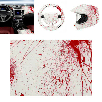 Blood Splatter Hydrographic Water Transfer Hydro Dip Hydrodipping Film Red