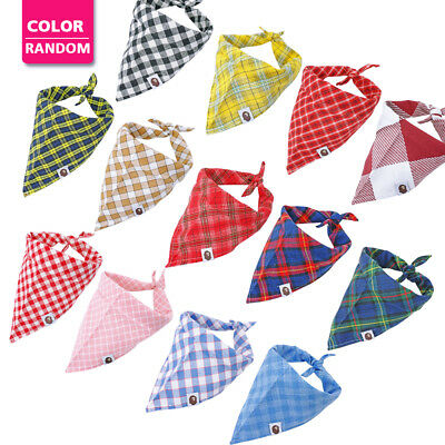 5pcs/lot Dog Collars Bandana Soft Fabric Pet Neck Scarf Random Colors Small Big