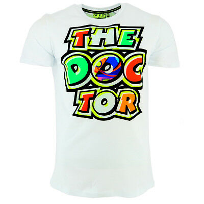 c76a14e456a9 Valentino Rossi VR46 Moto GP The Doctor Logo White T-shirt Official New