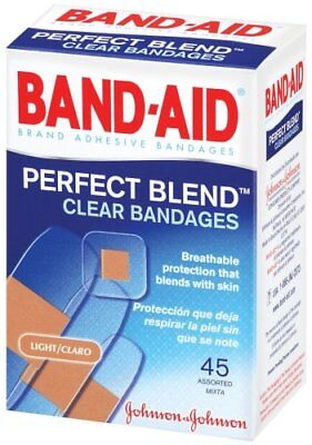 BAND-AID Clear Strips Adhesive Bandages Assorted 45 EA (5 Packs)