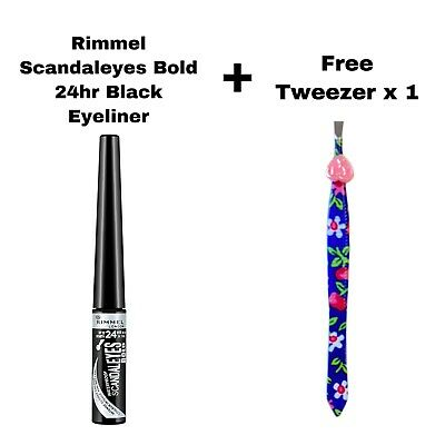 Rimmel Scandaleyes Bold 24Hr Black Waterproof Liquid Eyeliner Brand New
