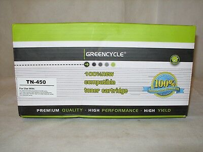 Greencycle High Yield Black Toner Cartridge for Brother TN450 TN-450 - NOS