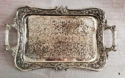 Brevettato vintage beautiful silver plate tray. Made in Italy