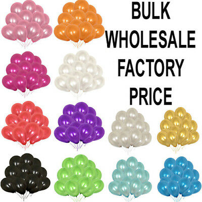 100 LARGE PLAIN BALLOONS BALLONS Helium BALLOON Quality Birthday Wedding BALOON