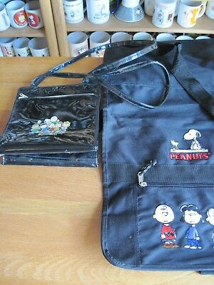 Snoopy / Peanuts Sholder Bag And Pocket Book Black